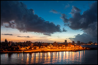 Havana from the fort at dusk.