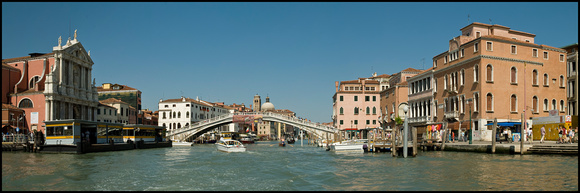 "The Grand Canal and the Ponte Degli Scalzi ""The Bridge of the Barefoot Carmelites"" Venice"
